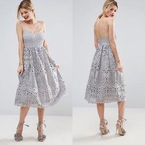 NWT Asos Heavy Lace Crochet Midi Dress
